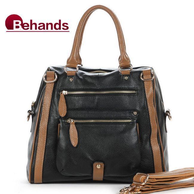 Genuine leather hangbags women s handbag shoulder bags purses leather