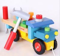 Janod truck model puzzle wood set child wooden toy assemble