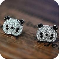 35 oe0017 new arrival accessories gentle full rhinestone stud earring 2g