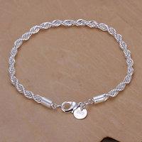 H207 Wholesale! 925 silver bracelet 925 silver fashion jewelry charm bracelet Twisted Line Bracelet