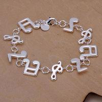 H242 Wholesale! 925 silver bracelet 925 silver fashion jewelry charm bracelet Music Bracelet