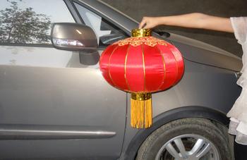 Quality iron metal red festive lantern customize wedding decoration