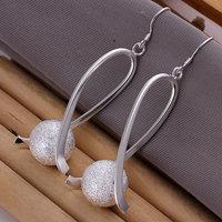 E133 Wholesale 925 silver earrings, 925 silver fashion jewelry, Ball Earrings