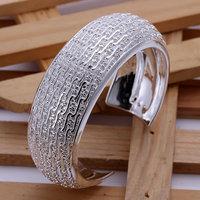 B025 Hot Sell! Wholesale 925 silver bangle bracelet, 925 silver fashion jewelry Bracelet, Weaved Web Bangle Men,Women, charms