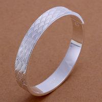 B090 Hot Sell! Men,Women, charms 925 silver bangle bracelet, 925 silver fashion jewelry Bracelet, Closed Fish Scale Bangle