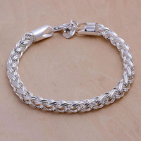 H070 Wholesale! 925 silver bracelet 925 silver fashion jewelry charm bracelet Twisted Ring Bracelet Men,Women, charms