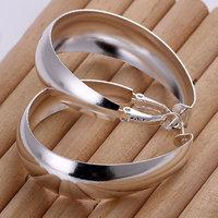E018 Wholesale 925 silver earrings, 925 silver fashion jewelry, Smooth Egg Shape Earrings Men, Women ,zircon, africa earrings