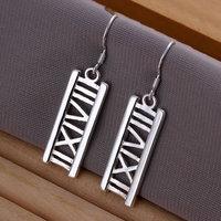 E045 Wholesale 925 silver earrings, 925 silver fashion jewelry, Hollow Rome Earrings 18k, Plated.Gold ,Women ,zircon