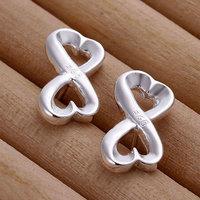 E049 Wholesale 925 silver earrings, 925 silver fashion jewelry, 8 Shape Earrings 18k, Plated.Gold ,Women ,zircon