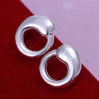 E056 Wholesale 925 silver earrings, 925 silver fashion jewelry, Tai Chi Earrings 18k, Plated.Gold ,Women ,zircon