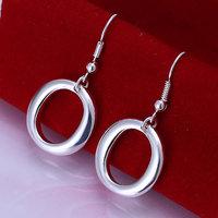 E088 Wholesale 925 silver earrings, 925 silver fashion jewelry, O Earrings 18k, Plated.Gold ,Women ,zircon