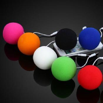 Wholesale (50pcs/Lot) Mini Music Balloon Speaker with Multi-color Audio Dock Portable Sponge Speaker for MP3 MP4 Mobile phone
