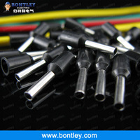 Free Shipping Black E1508 PVC Insulated Wire Ferrules For 1.5mm2, 16 AWG Wire, 8mm of Pin Length