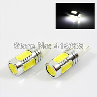 free shipping wholesale 10 pcs/lot  DC 12V  SUPER WHITE 7.5W SMD LED LICENSE PLATE LIGHTS BULBS 194/168/T10/161/147/152