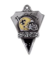 Hot Sale free shipping  10pcs a lot  enamel antique silver plated single-sided New Orleans Saints charms jewelry accessory