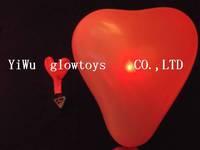 free shipping led  heart shape balloon light  wholesale