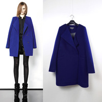 Free shipping 2014 spring new arrival medium-long fashion double breasted slim woolen cashmere overcoat Wool Blends Coat