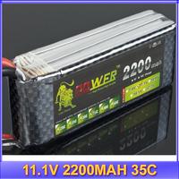 Lion Power 11.1V 2200MAH 35C max 40C AKKU LiPo RC Battery For Rc Helicopter +free shipping