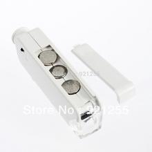 novo portátil 160x-200x lente zoom levou microscópio de bolso iluminado lupa lupa frete grátis(China (Mainland))