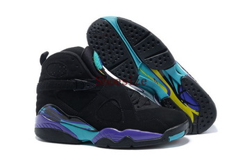 Wholesale Popular Trainers Retro VIII 8 Men's Sports Basketball Shoes (black / bright / aqua tone)