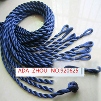 100pcs Navy Blue 2mm twist 18inch jewelry kont connector satin rope silk string cord necklace DIY Finding Accessories