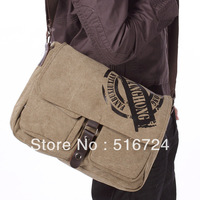 Trend shoulder bag cross-body multi-purpose canvas male bag man casual preppy style laptop bag