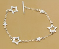Wholesale & Retail charms five-pointed star 925 Silver  Bracelet a217
