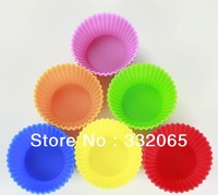 Free Shipping Wholesale 7cm Silicone Cake Mold/Cupcake Mold /Baking Mould Bakeware  Chocolate Cupcake 60pcs/lot