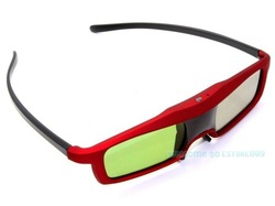 Free Shipping!!Red 3D Active Shutter Glasses For BenQ/Optoma/View Sonic DLP-Link Projector TV(China (Mainland))
