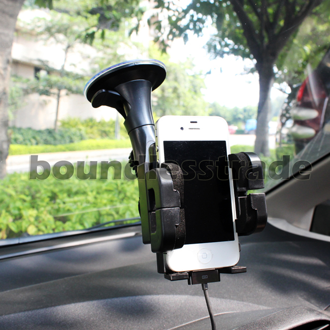 Free shipping Car Mount Stand Holder Kits for Cell Phone IPhone4 4G GPS PDA Ipod PSP+charger_SP032+SP037(China (Mainland))