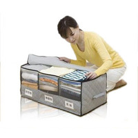 yp014 HOT 1pcs  Bamboo Charcoal - band Windows Classification Three Clothes Locker/Clothing Storage Box