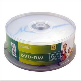 Hight quality! blank Dvd-rw 4.7G/4X  /120min 25 ribest dvd discs dvd rw rom  FreeShipping!