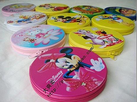 24 cartoon tinplate dvd box customize cd bag car cd bag(China (Mainland))