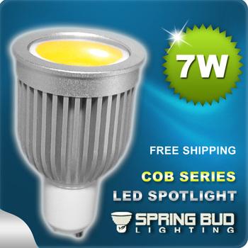 NEW!! Erengy saving LED 7W COB Spotlight Bulb High brightness 220V/12V E27 GU10 E14 GU5.3 MR16 CE&Rohs -- Free Shipping 6pcs/lot