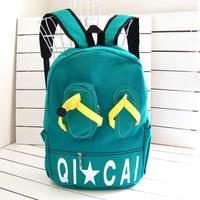 Backpack school bag personalized flip flops shoes male women's handbag backpack school bag canvas bag candy color