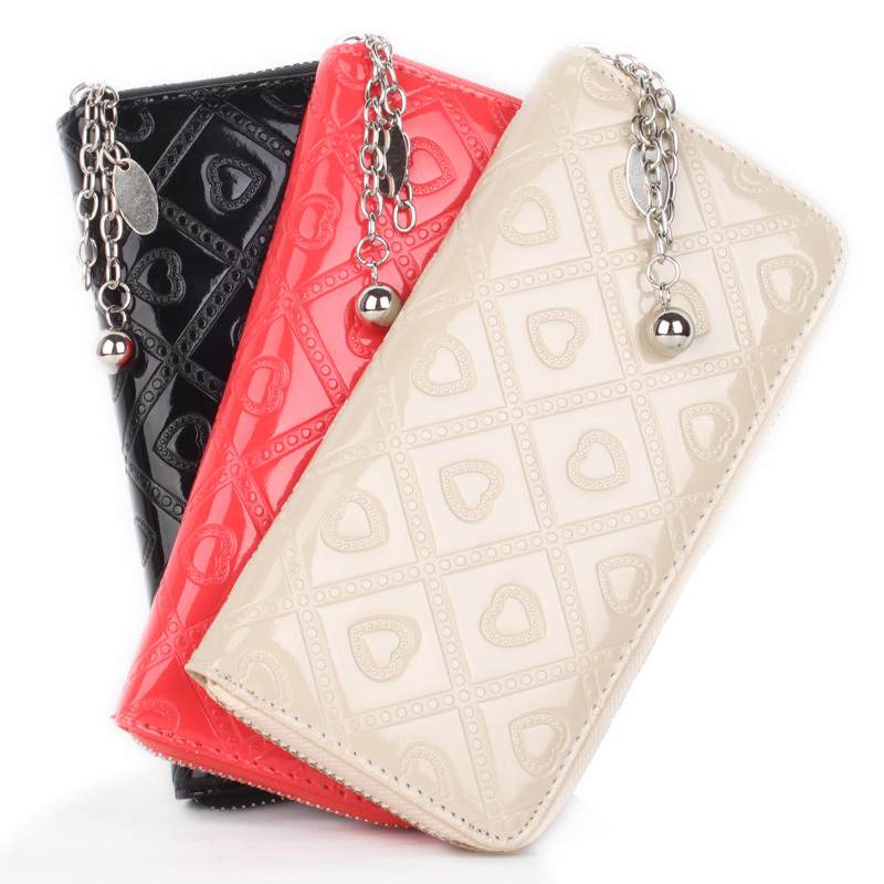 Free Shipping cheap price on sale 2013 women's spring handbag 2013 candy color women's wallet long design women's card holder(China (Mainland))