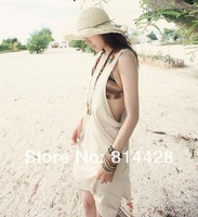 Hot Sale! Playsuit, Covr-ups, One piece, beach dress, Sexy ladys' beach dress, free size, 3 colours available, Free Shipping