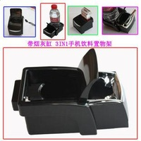 free shipping 5pcs Multifunctional car ashtray car ashtray soot bucket mount mobile phone holder cigarette case mount