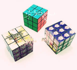 Cartoon magic cube toy stall the goods intelligence toys novelty commodities child(China (Mainland))