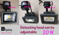Pir Spotlight with motion senser 20w 30w 50w ac100-240v spot light led Infrared sensor motion detector indoor outdoor