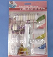 Min order $10 (mix order) Baking tools Fondant Ribbon Cutter / Embosser Set cake decorating sets
