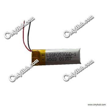3.7V 120mAh 051230P 051230 501230P 501230 5.0x12x30mm (HxWxL) Lipo Lithium Polymer Rechargeable Battery