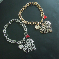 Fashion Brand crystal Heart bracelet free shipping wholesale/retailer
