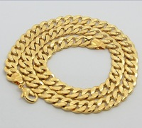 24KRGP Chain - PBDC26 / Beads chain  / 24K Gold Plated 4MM figaro chain / wholesale jewelry , men's necklace / Free shipping
