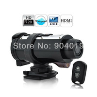 Waterproof 720P HD Sports Action Video Recorder Camera CAR DVR With Remote Control