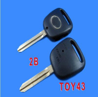 Free shipping Side 2 Buttons Toy43 Key Shell Blank Fob for Toyota Key Cover Case