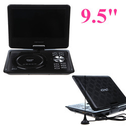 New EVD player 9.5&quot; Screen Portable DVD PLAYER,GAME,Analog TV,CD,MP3,MP4,DIVX,USB/SD Mini Portable DVD Player MP0348(China (Mainland))