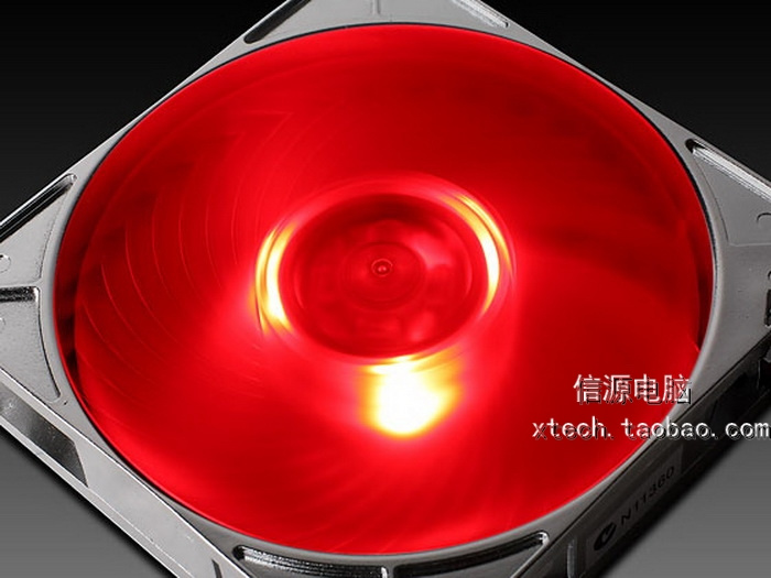 Ap121-rl 12cm 120mm liquid bearing cooling fan red led(China (Mainland))