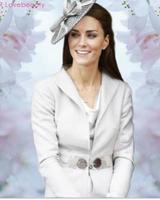 Kate Middleton Princess the same paragraph gray elegant windbreaker coat ..WJ010
