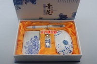 Blue and white porcelain set card stock male commercial gifts diy birthday gift